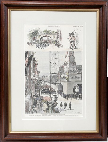 050015: LITHOGRAPH, THE GRAND ARMY REUNION AT DETROIT