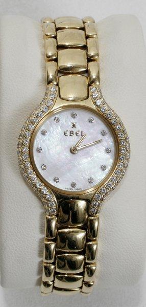 050023: EBEL BELUGA GOLD, DIAMOND & M-O-PEARL WATCH