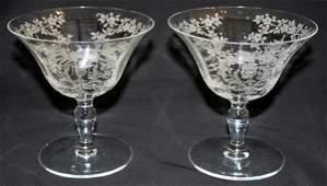 051359: MORGANTOWN GLASS SHERBETS, 'MIKADO' PATTERN