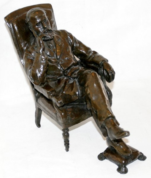 052007: THERESE QUINQUANA BRONZE SCULPTURE, GENTLEMAN