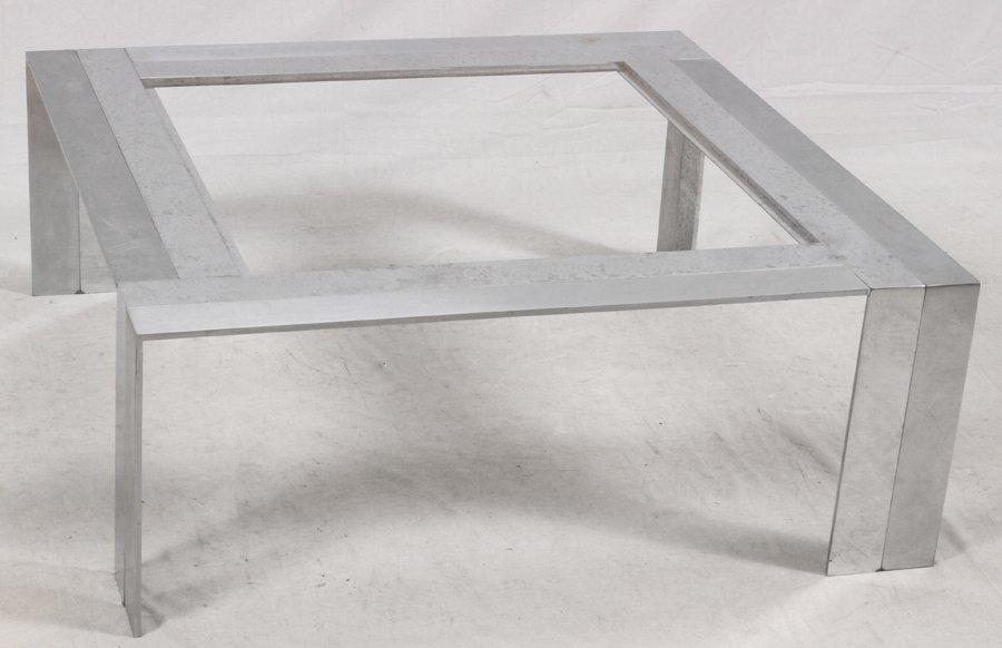 MID-CENTURY MODERN STEEL COFFEE TABLE