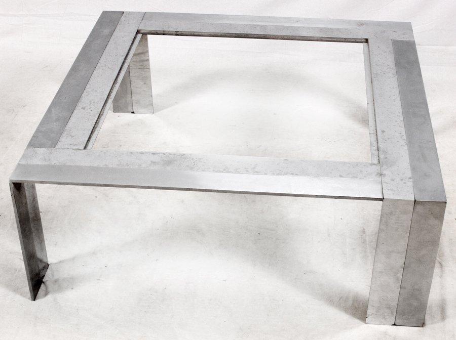 MID-CENTURY MODERN STEEL COFFEE TABLE - 2