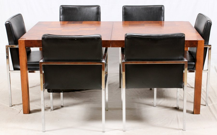 MILO BAUGHMAN PARSON'S TABLE & CHAIRS