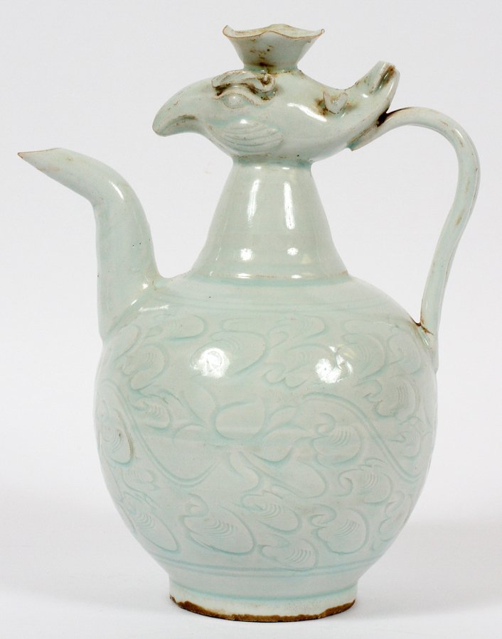CHINESE BIRD FORM PORCELAIN COFFEE POT