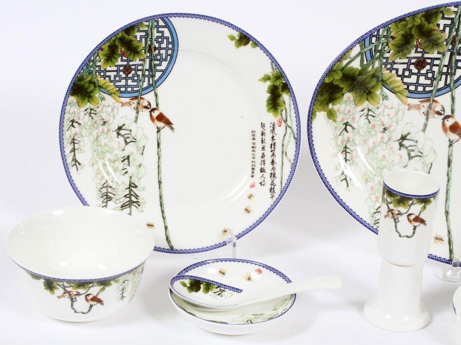 CHINESE PORCELAIN DINNERWARE 33PCS - 2