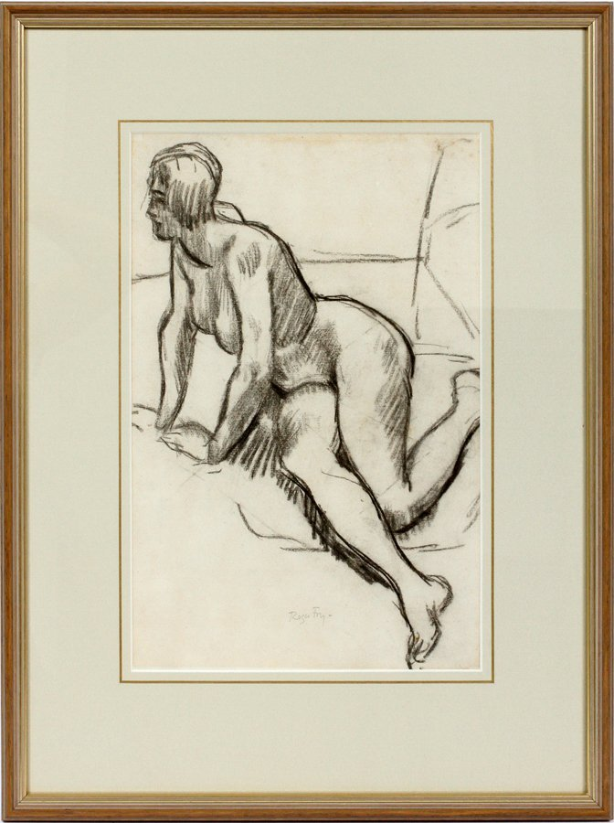 ROGER FRY PENCIL SIGNED CHARCOAL DRAWING - 2