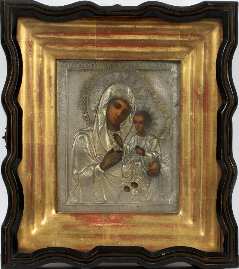 RUSSIAN ICON MARY AND CHRIST CHILD