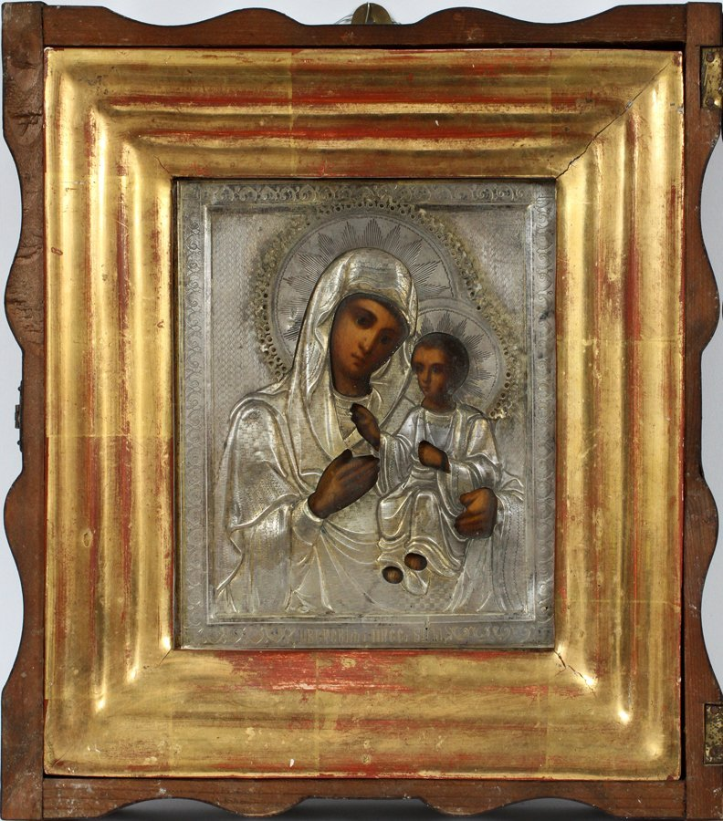 RUSSIAN ICON MARY AND CHRIST CHILD - 2