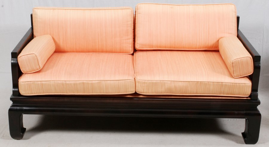 CHINESE TEAKWOOD SOFA AND ARMCHAIR - 2
