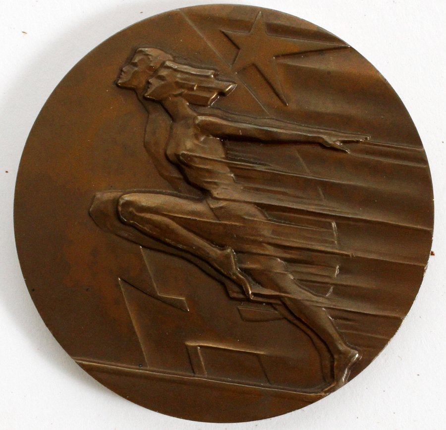 RUSSIAN OLYMPIC BRONZE MEDAL 'SPEED AND STRENGTH'