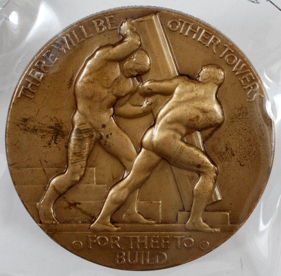 WALKER HANDCOCK SCULPTOR OLYMPIC BRONZE MEDAL 1940