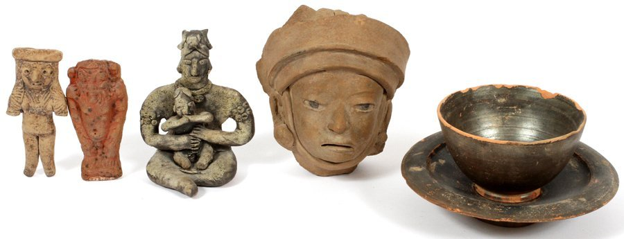 SOUTH AMERICAN/PRE-COLUMBIAN STYLE POTTERY FIGURES