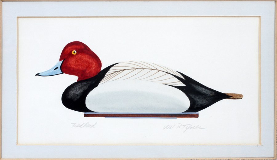 WILLIAM P TYNER COLOR LITHOGRAPH OF A DUCK DECOY - 2