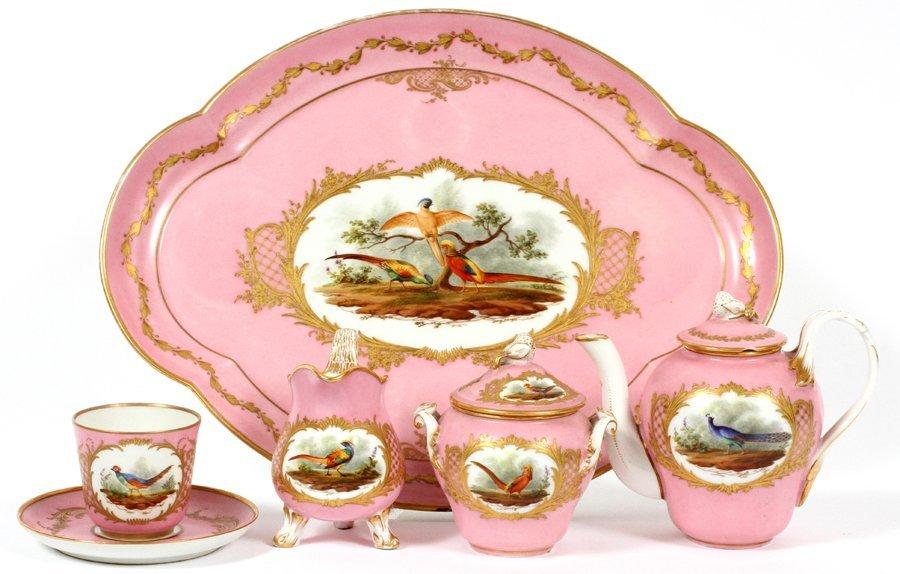SEVRES FRENCH PORCELAIN TEA SET INCLUDING TRAY