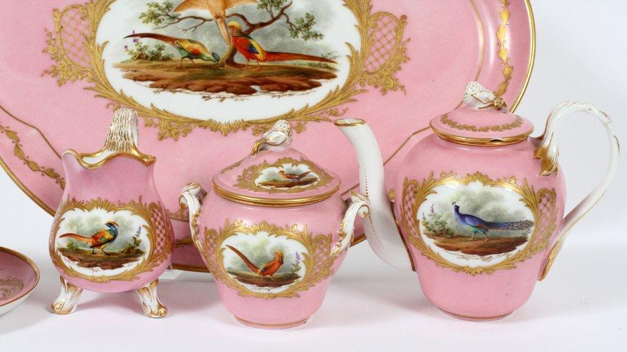 SEVRES FRENCH PORCELAIN TEA SET INCLUDING TRAY - 2