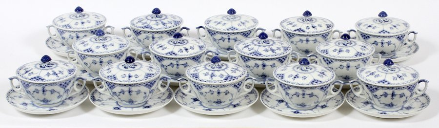 ROYAL COPENHAGEN BLUE FLUTED LACE PORCELAIN