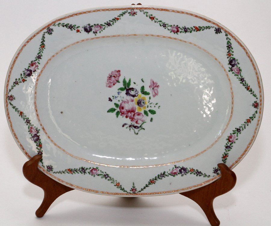 CHINESE EXPORT PORCELAIN COVERED TUREEN & PLATTER - 2