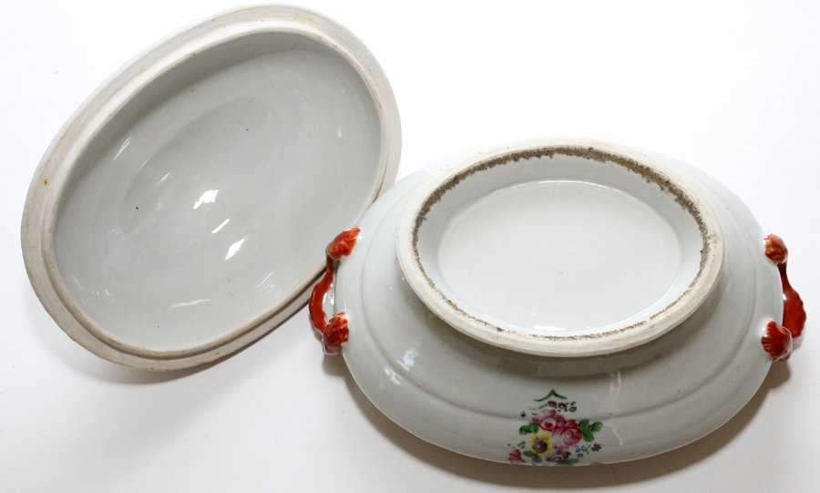 CHINESE EXPORT PORCELAIN COVERED TUREEN & PLATTER - 6