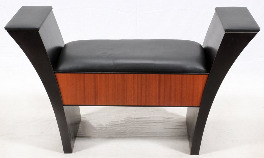 LEATHER UPHOLSTERED BANQUETTE