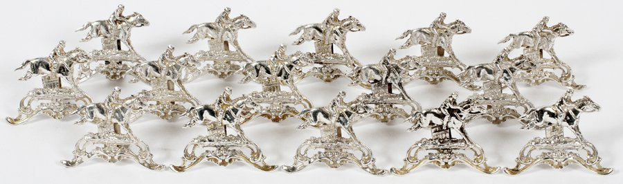 GERMAN STERLING PLACE CARD HOLDERS 15 PIECES