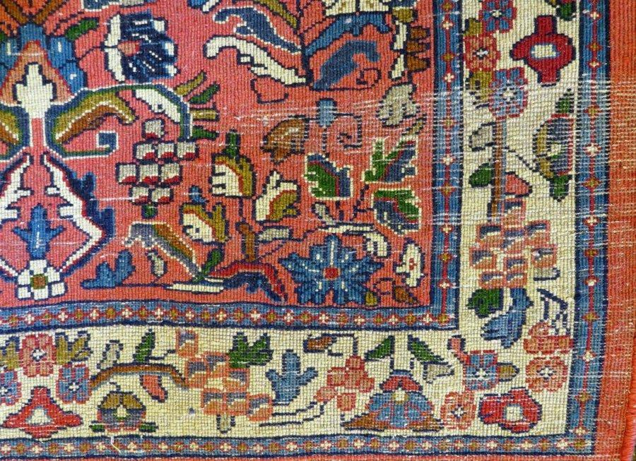 PERSIAN SAROUK WOOL CARPET ANTIQUE - 3