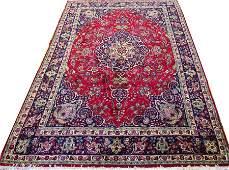 PERSIAN SIGNED TABRIZ WOOL CARPET