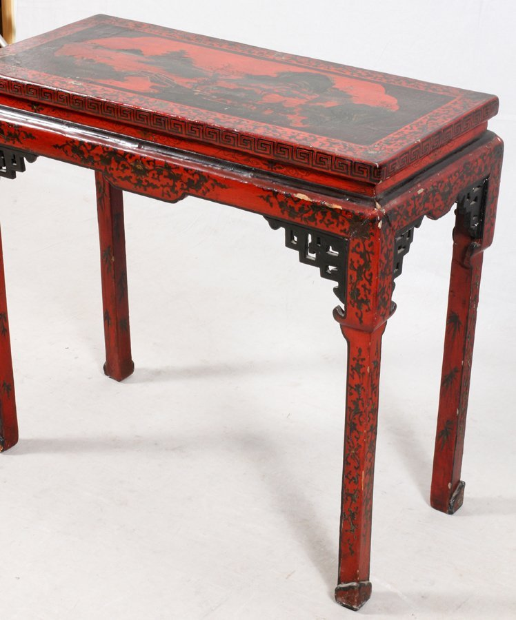 CHINESE LACQUERED ALTAR TABLE - 2
