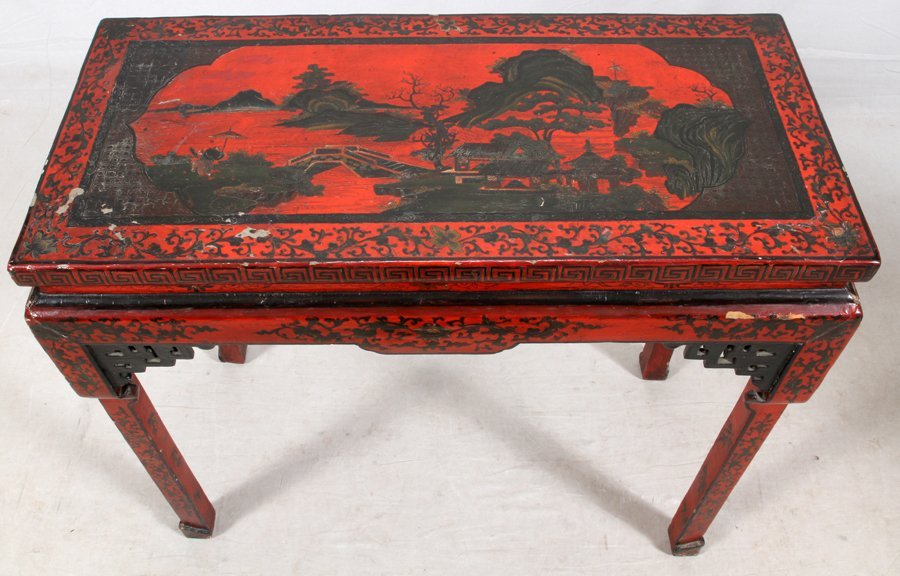 CHINESE LACQUERED ALTAR TABLE - 3