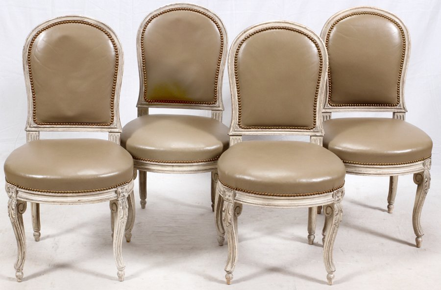 LOUIS XV STYLE SIDE CHAIRS 4 PIECES