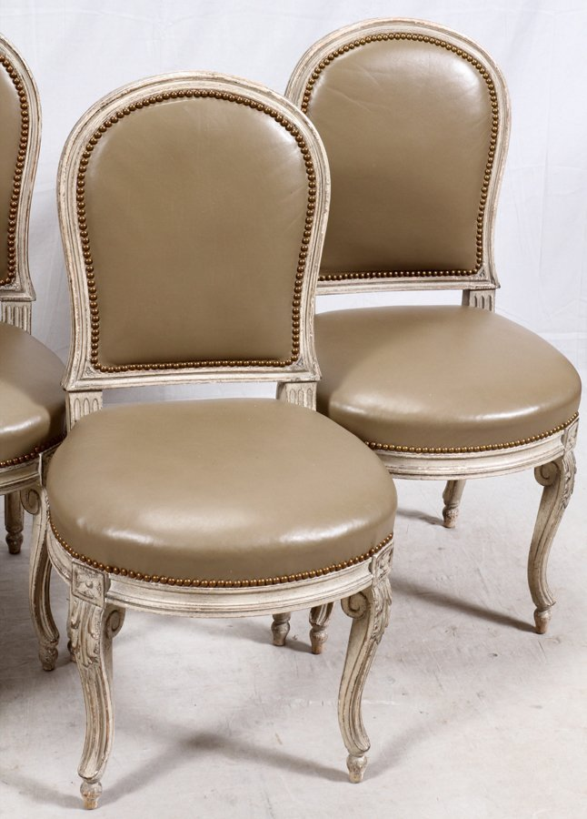 LOUIS XV STYLE SIDE CHAIRS 4 PIECES - 2