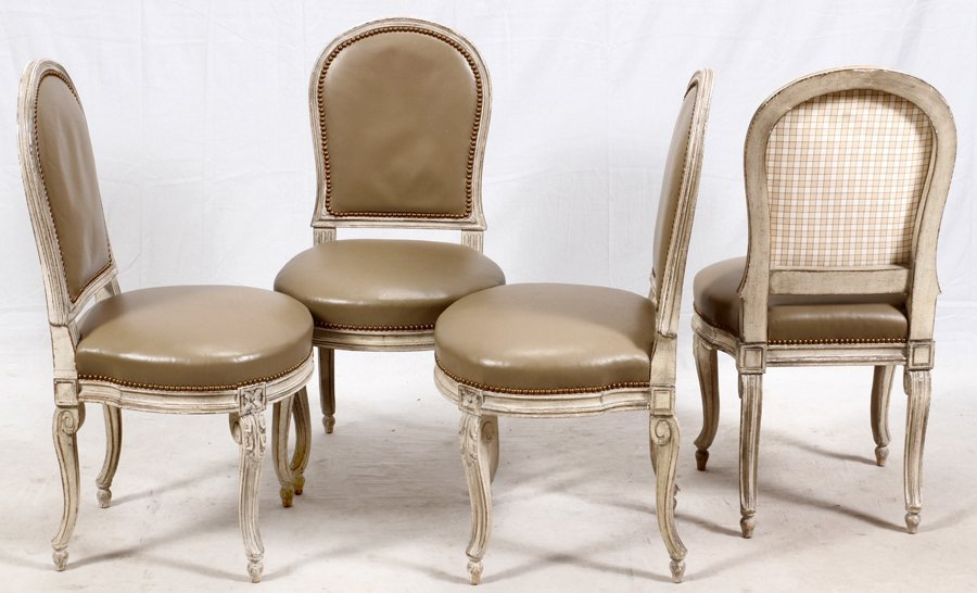 LOUIS XV STYLE SIDE CHAIRS 4 PIECES - 3