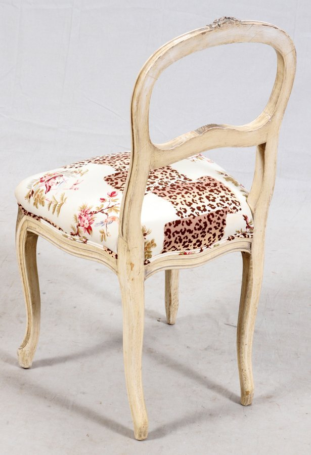 LOUIS XV STYLE PAINTED WOOD CHAIR - 2