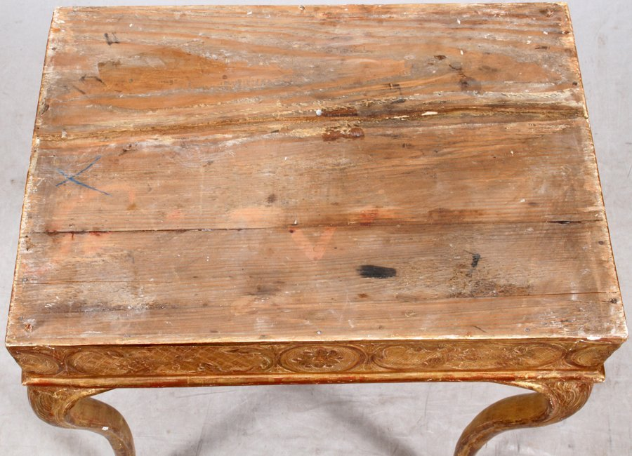 FLORENTINE WHITE MARBLE AND GILT END TABLE - 5