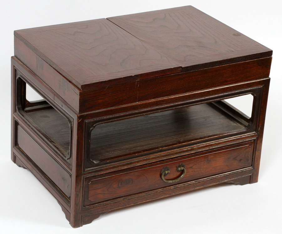 ASIAN CARVED WOOD TABLE - 2