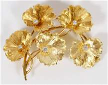 .2CT DIAMOND AND 18KT GOLD VINTAGE BROOCH