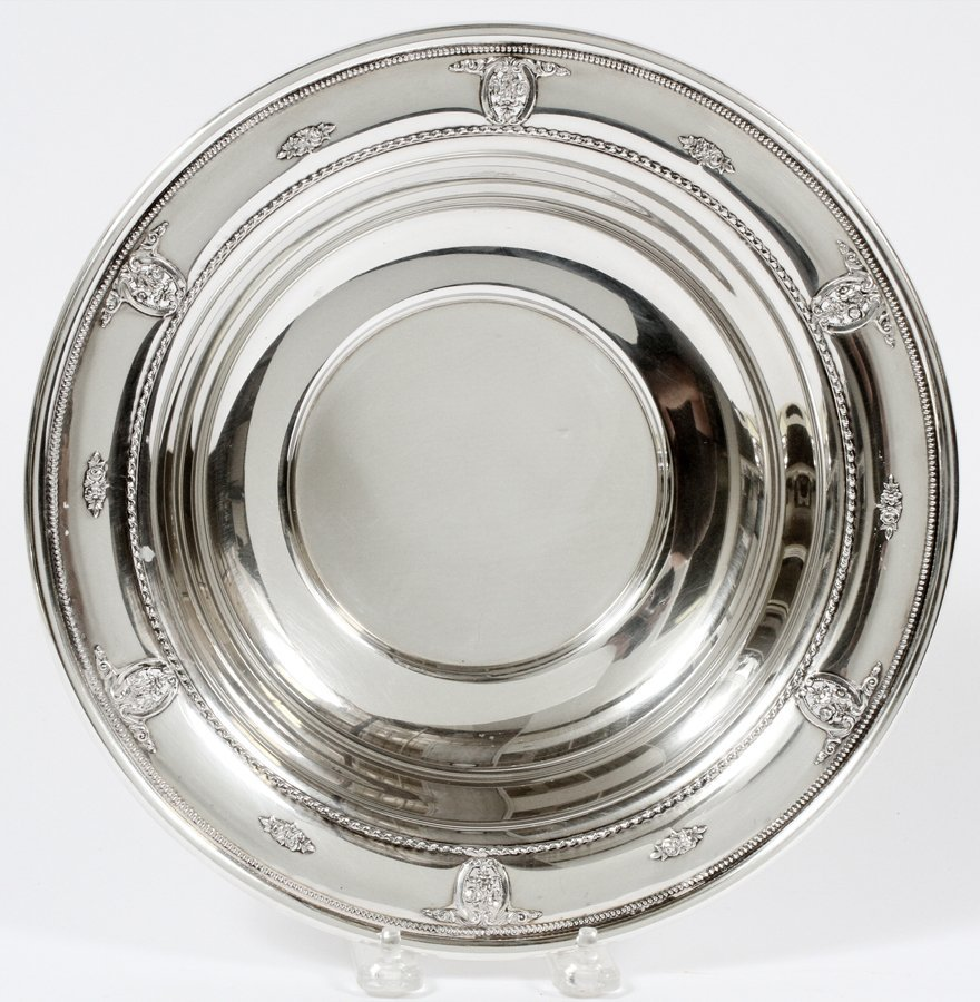 WALLACE ROSE POINT STERLING SILVER BOWL
