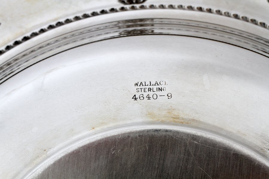 WALLACE ROSE POINT STERLING SILVER BOWL - 2