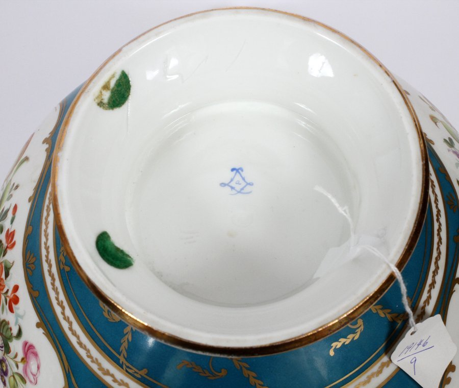 FRENCH SEVRES PORCELAIN TUREEN W/ COVER 19TH.C. - 3