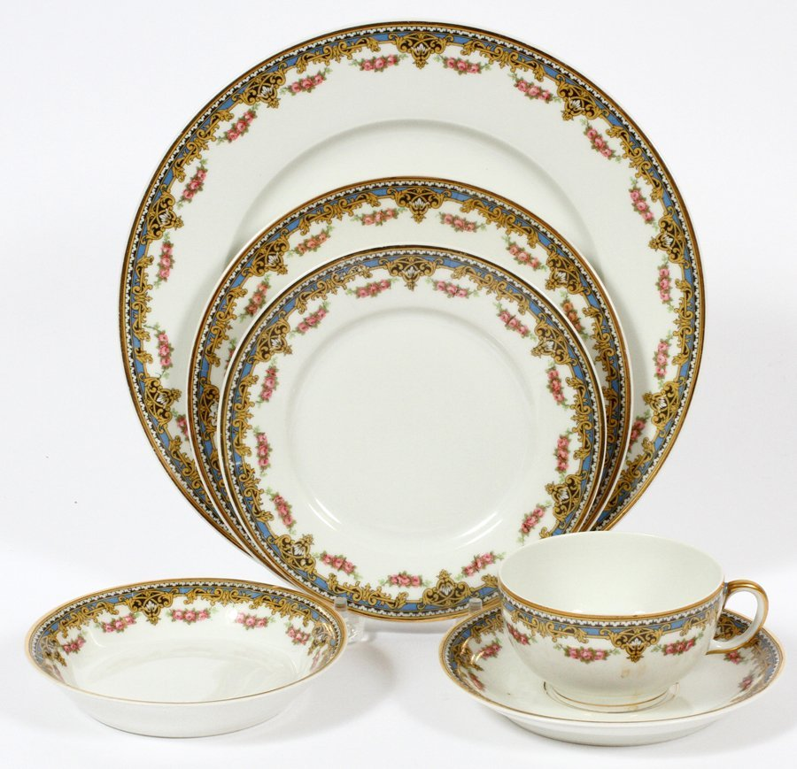 UNION CERAMIQUE FRENCH PORCELAIN DINNERWARE - 2