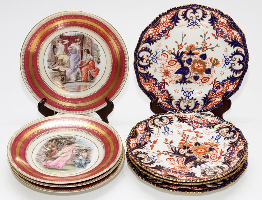 ROYAL CROWN DERBY AND AUSTRIAN PORCELAIN PLATES