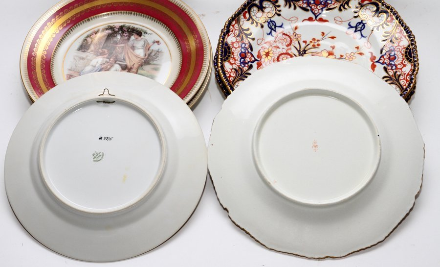 ROYAL CROWN DERBY AND AUSTRIAN PORCELAIN PLATES - 2