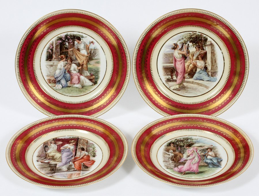 ROYAL CROWN DERBY AND AUSTRIAN PORCELAIN PLATES - 3