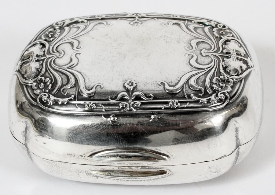 GORHAM STERLING SILVER HINGED SOAP BOX
