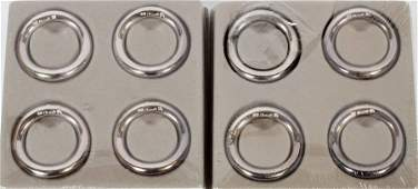 CHRISTOFLE SILVERPLATE NAPKIN RINGS 8 PIECES ENCASED