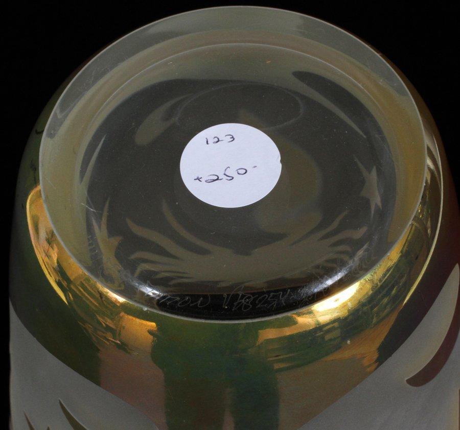 CORRIA CARVED GLASS VASE - 3