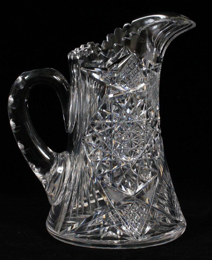 CUT GLASS WATER PITCHER - 2