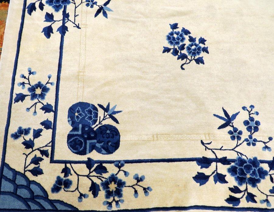 CHINESE HANDWOVEN WOOL CARPET C. 1930-1950 - 2