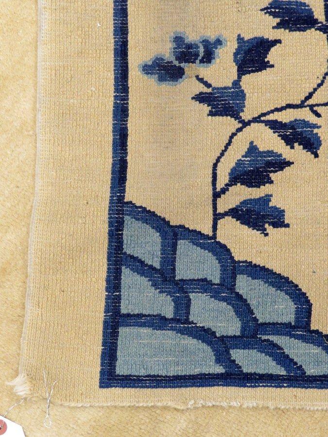 CHINESE HANDWOVEN WOOL CARPET C. 1930-1950 - 5