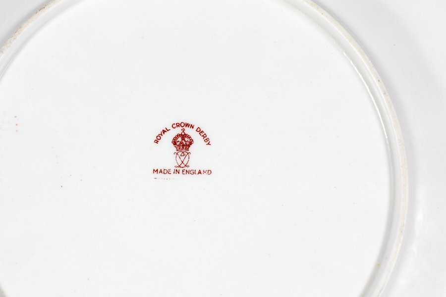 ROYAL CROWN DERBY PORCELAIN PLATES 12 - 2