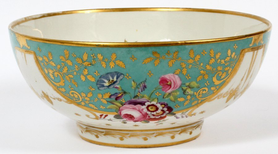 ROCKINGHAM PORCELAIN BOWL CIRCA 1850